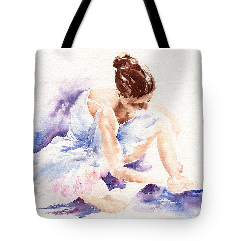 Ballerina Tote Bag featuring the painting Ballerina by Stephie Butler