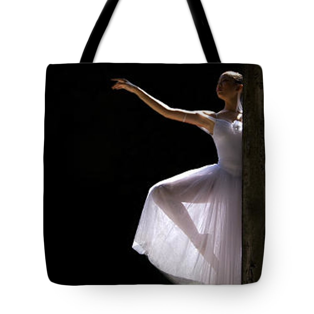 Ballet Dancer Tote Bag featuring the photograph Ballet Dancer6 by George Cabig