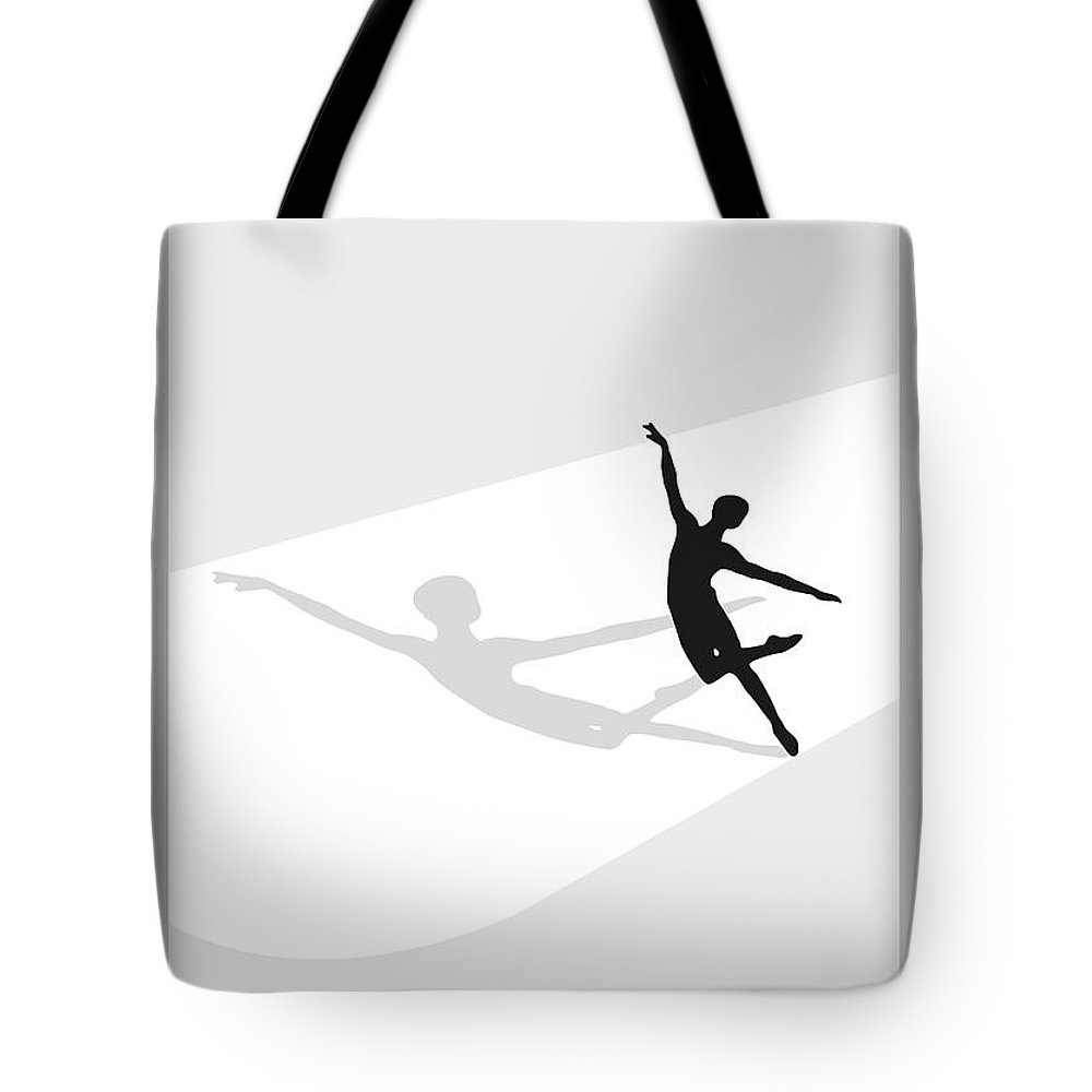 Ballet Tote Bag featuring the digital art Ballet by Joaquin Abella