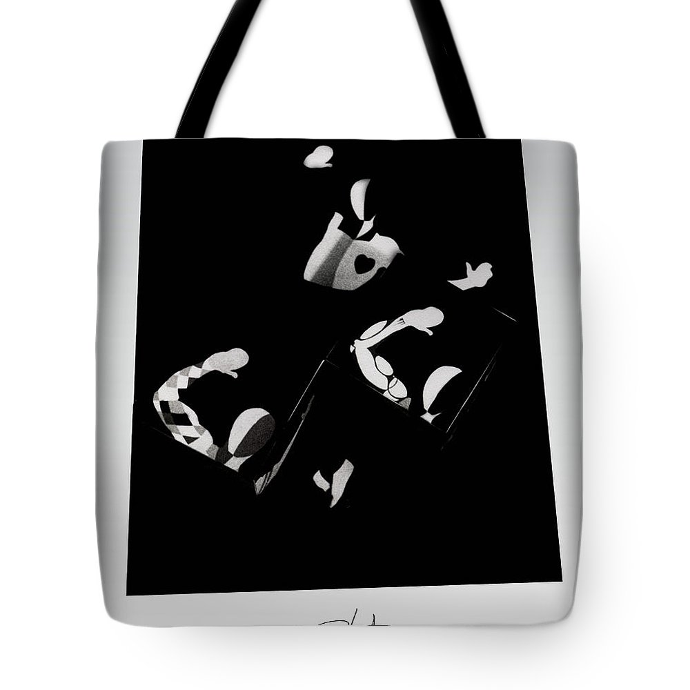 Dance Tote Bag featuring the photograph Ballet Silouette by Charles Stuart
