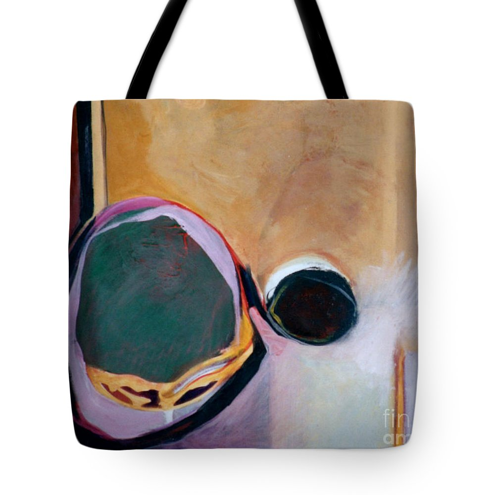 Abstract Tote Bag featuring the painting Ballistic by Marlene Burns