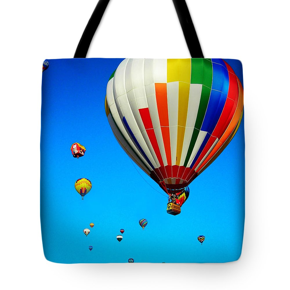 Quebec Tote Bag featuring the photograph Balloon Festival by Juergen Weiss