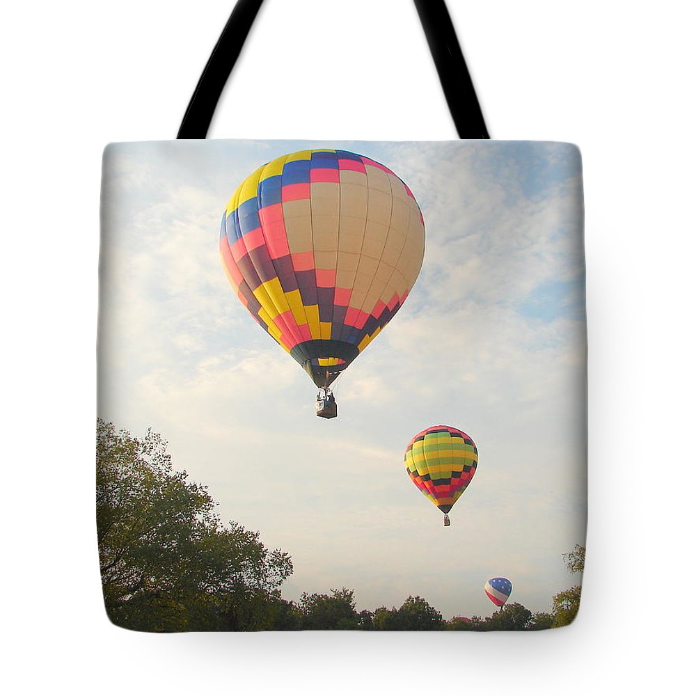 Tote Bag featuring the photograph Balloon Race by Luciana Seymour