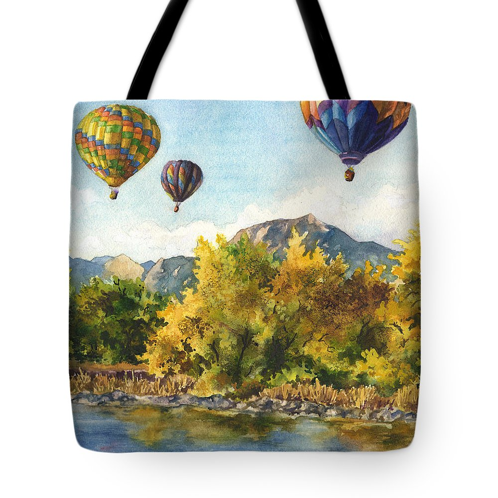Hot Air Balloons Paintings Tote Bags