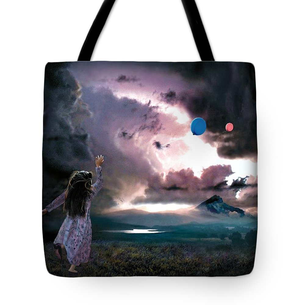 Children Tote Bag featuring the mixed media Balloons by Bill Stephens