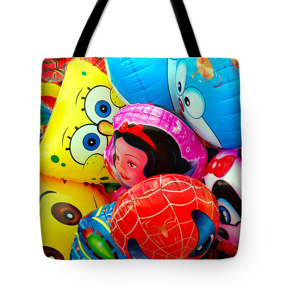 Colorful Tote Bag featuring the photograph Balloons by Charuhas Images