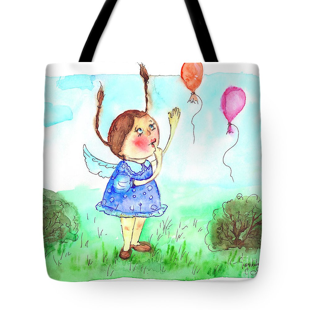 Balloons Tote Bag featuring the painting Balloons by Yana Sadykova