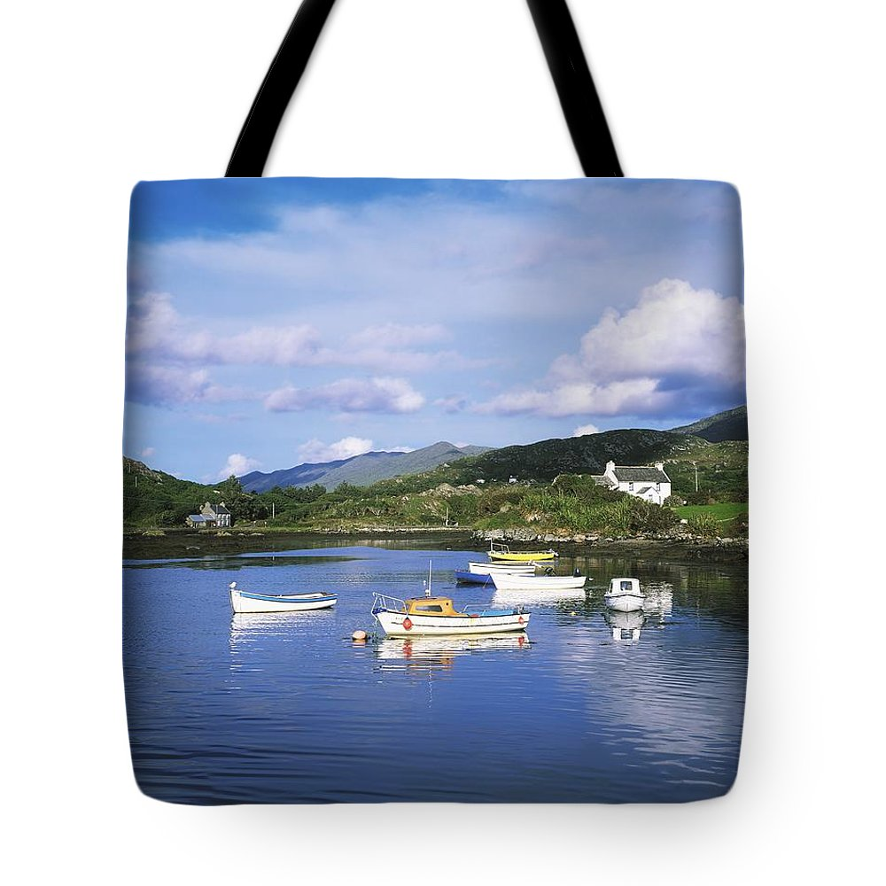 Oat Tote Bag featuring the photograph Ballycrovane Harbour, Beara Peninsula by The Irish Image Collection