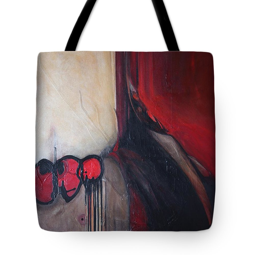 Abstract Tote Bag featuring the painting Ballz by Marlene Burns
