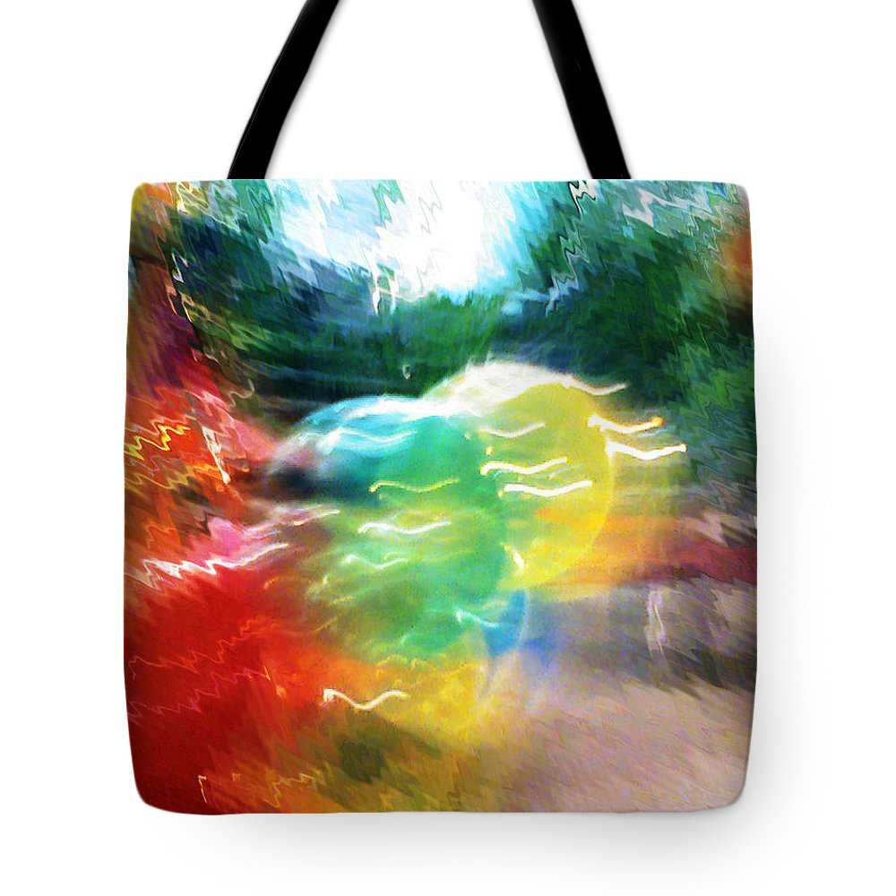 Baloons Tote Bag featuring the painting Baloons N Lights by Anil Nene