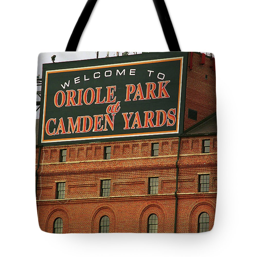 America Tote Bag featuring the photograph Baltimore Orioles Park At Camden Yards by Frank Romeo