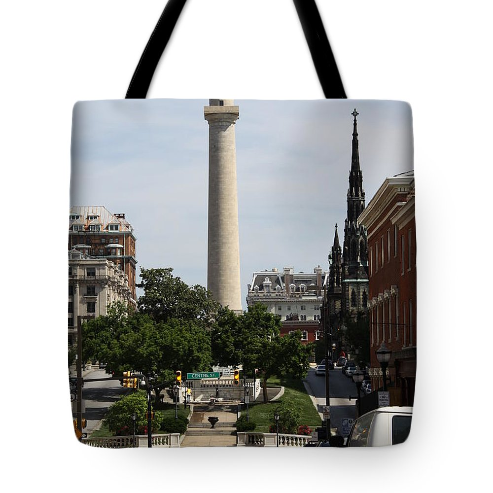 Street Tote Bag featuring the photograph Baltimore Streetscene by Christiane Schulze Art And Photography