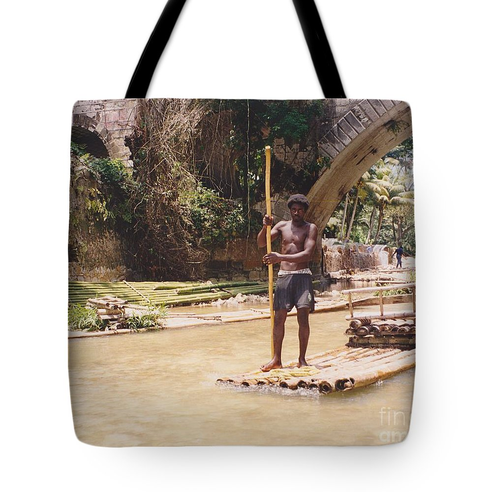 River Tote Bag featuring the photograph Bamboo Boat by Michelle Powell
