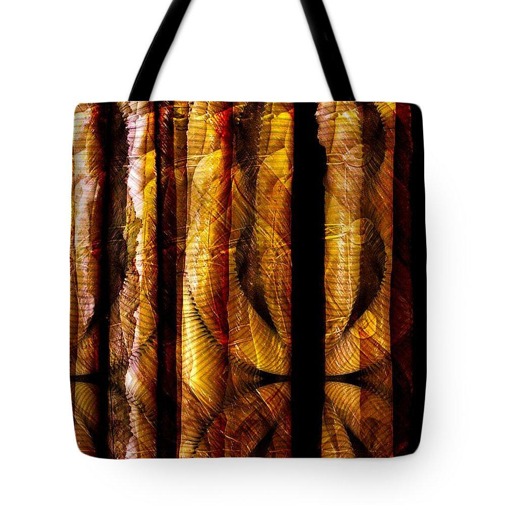 Bamboo Tote Bag featuring the digital art Bamboo by Ron Bissett
