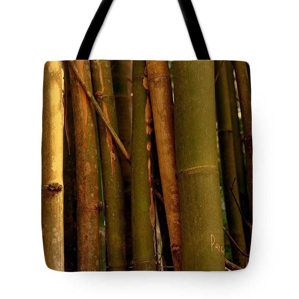 Bamboo Tote Bag featuring the photograph Bambusa Vulgaris by Susanne Van Hulst