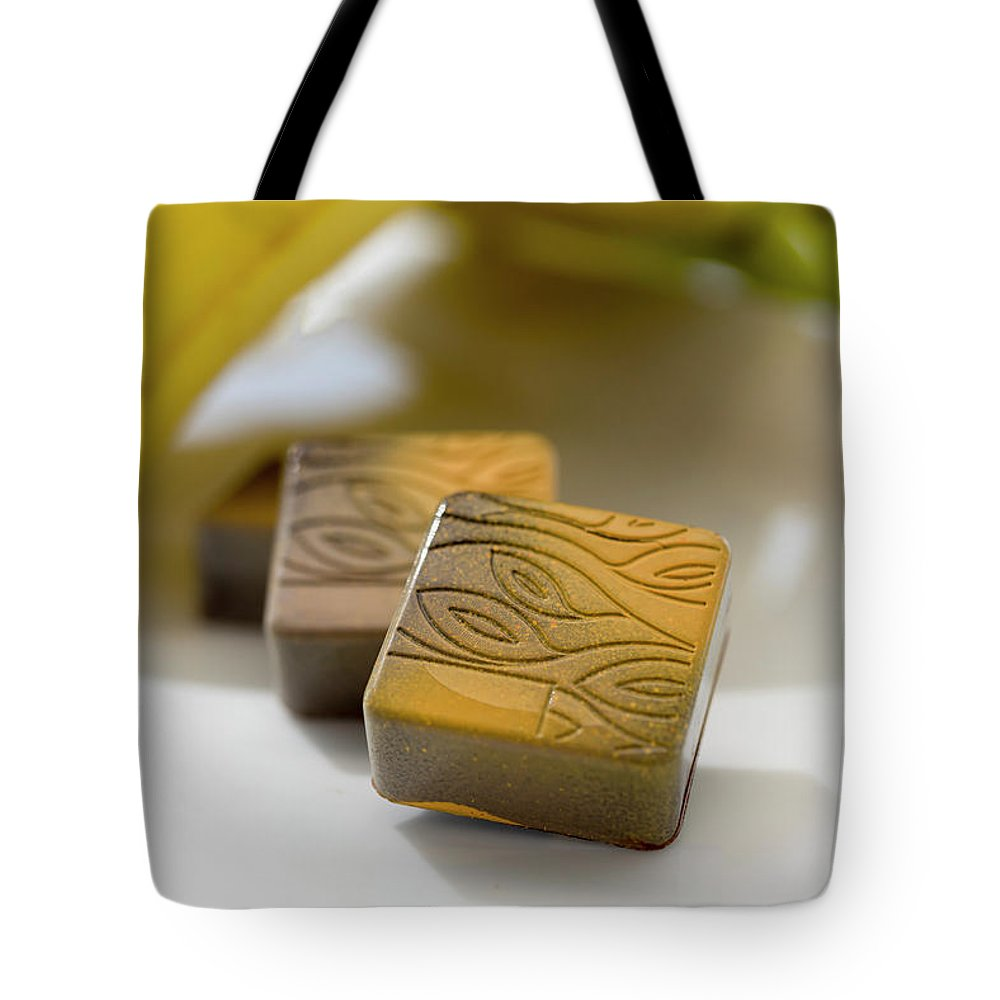 Chocolate Tote Bag featuring the photograph Banana Chocolate by Sabine Edrissi