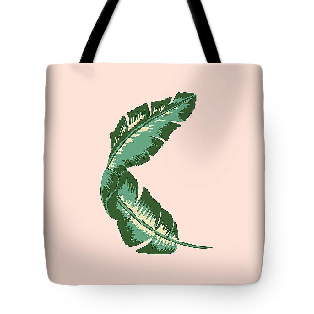 Leaf Tote Bag featuring the digital art Banana Leaf Square Print by Lauren Amelia Hughes