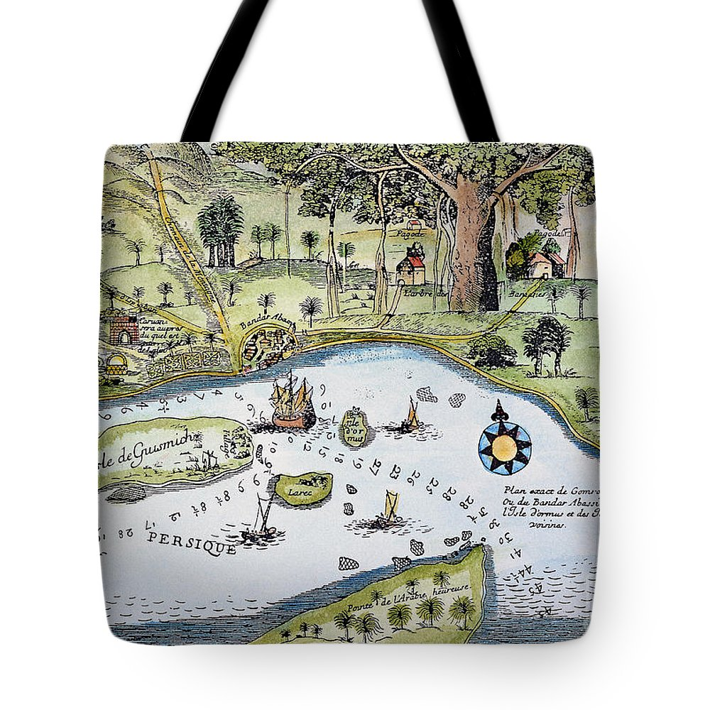 15th Century Tote Bag featuring the photograph Bandar Abbas, 17th Century by Granger