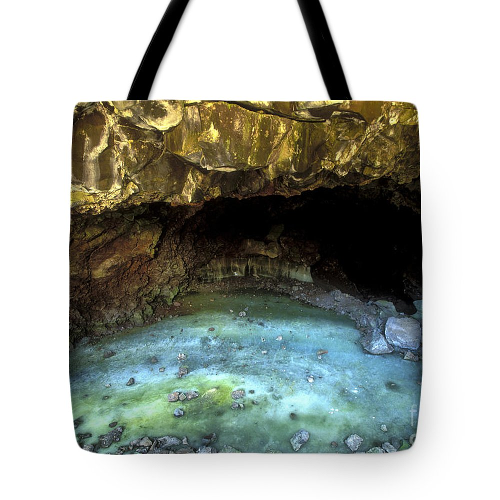 Southwest Tote Bag featuring the photograph Bandera Ice Cave by Sandra Bronstein