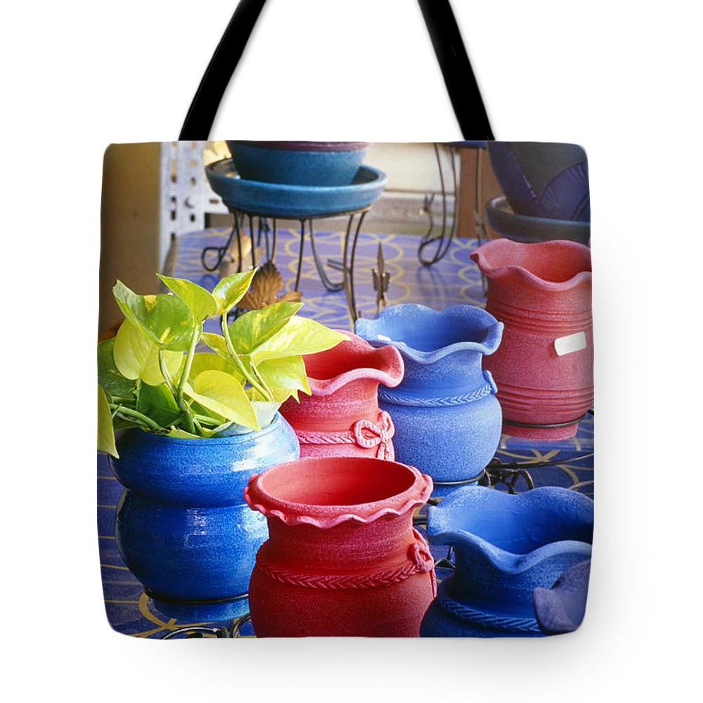 Art Tote Bag featuring the photograph Bangkok, Outdoor Market by Bill Brennan - Printscapes