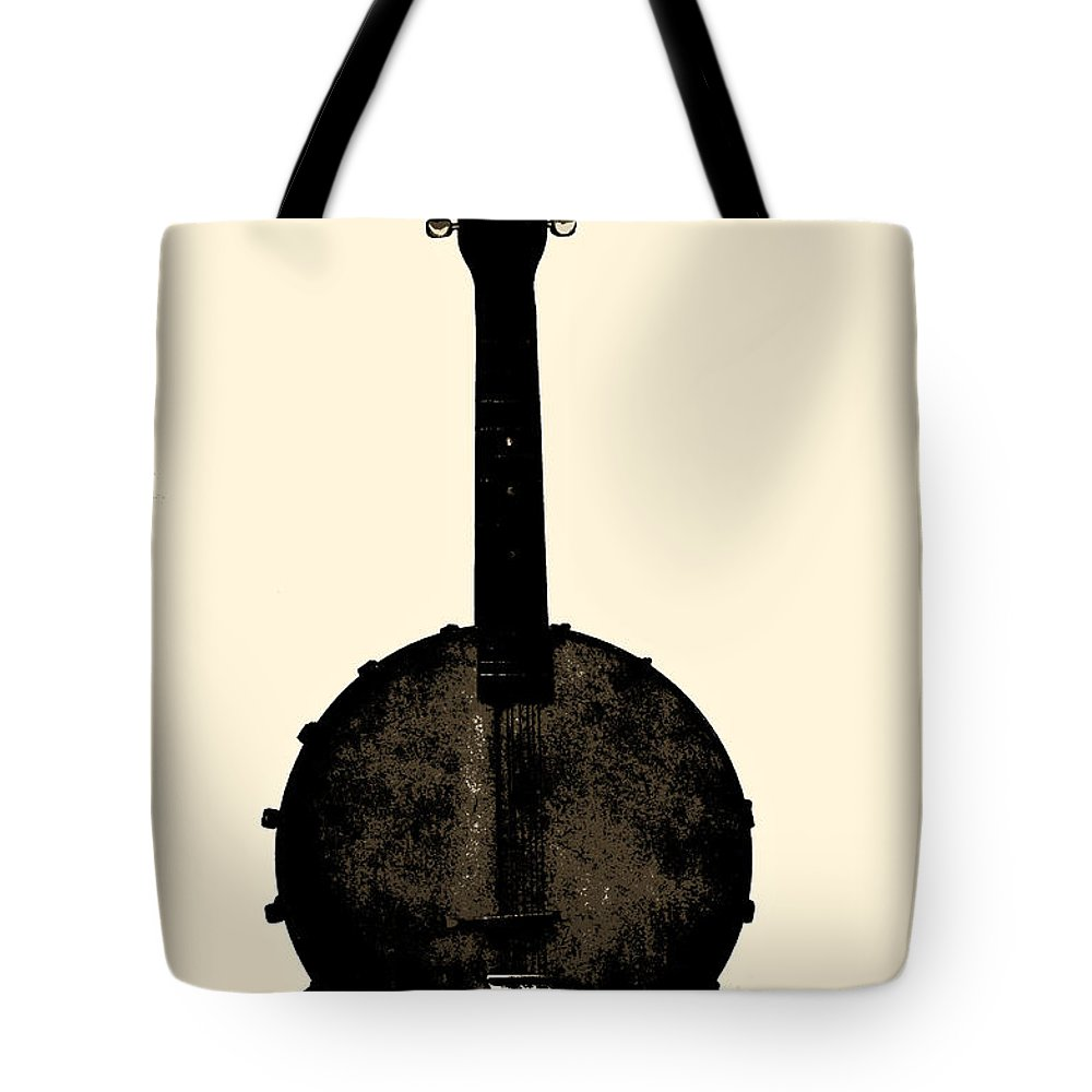 Banjo Tote Bag featuring the photograph Banjo Mandolin by Bill Cannon