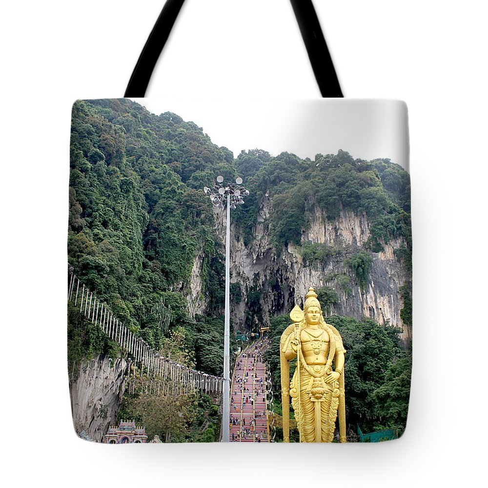 Tote Bag featuring the photograph Bantu Caves, Malaysia by Christopher Sammons