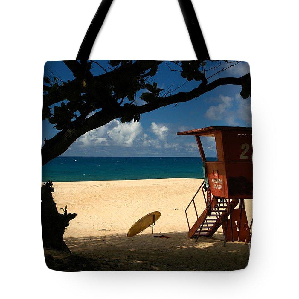 Oahu Tote Bag featuring the photograph Banzai Beach by Mark Gilman