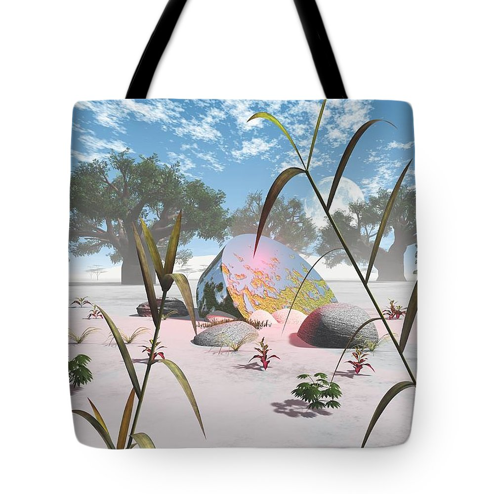 Ufo Tote Bag featuring the digital art Baobabs by Jay Salton