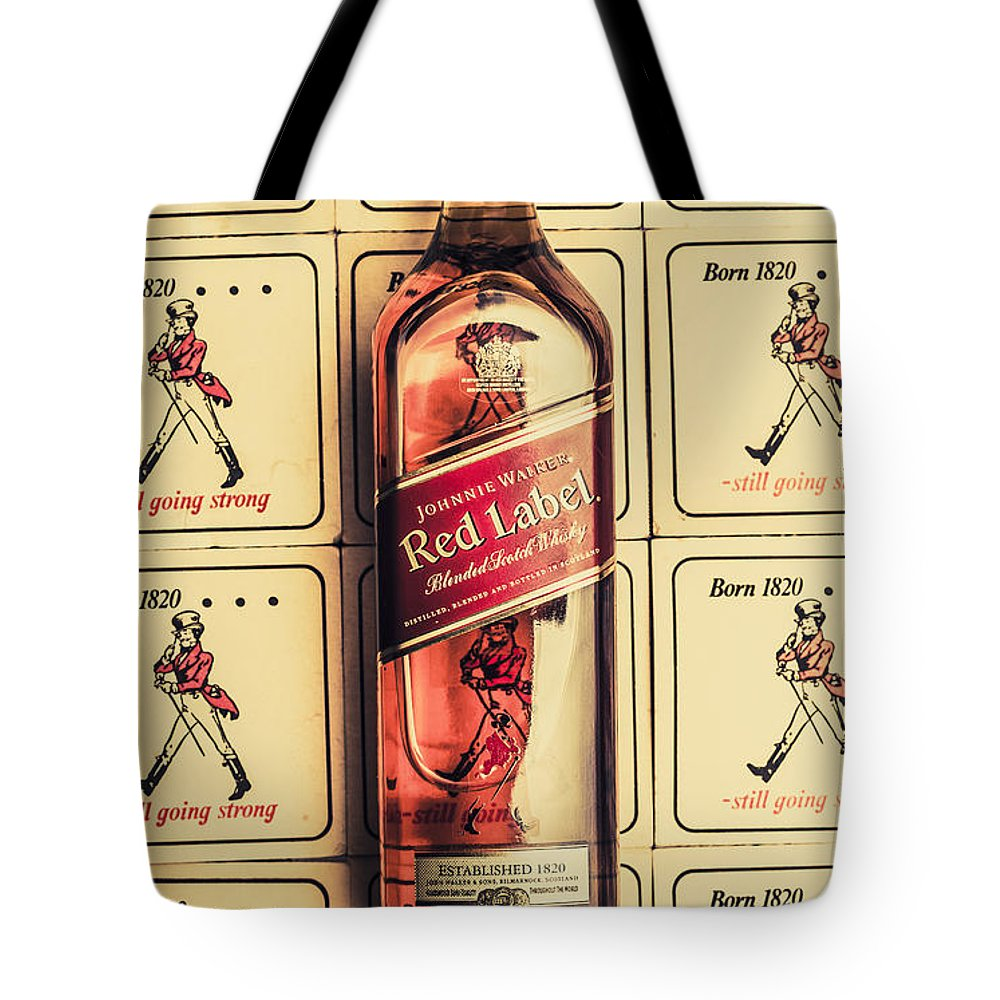Bar Wall Art. Old Johnnie Walker Red Label Tote Bag for Sale by ...