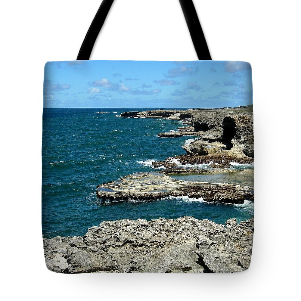 Caribbean Tote Bag featuring the photograph Barbados Coast by Arvin Miner