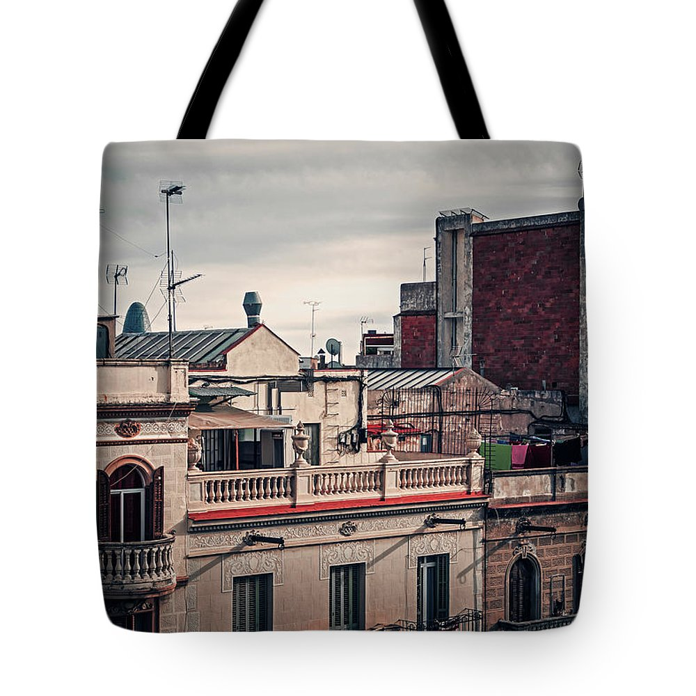 Barcelona Tote Bag featuring the photograph Barcelona Roofscape by Alexander Voss