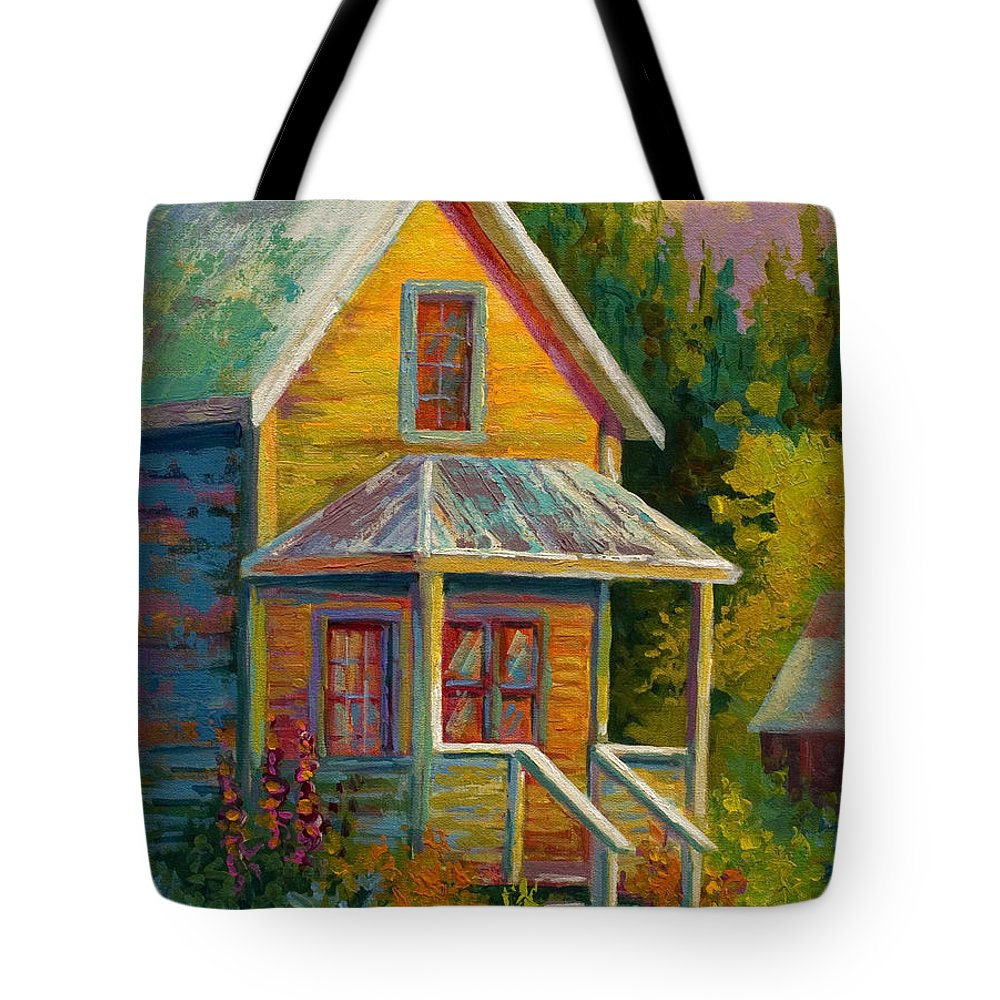 Historic Tote Bag featuring the painting Barkerville Orphan by Marion Rose