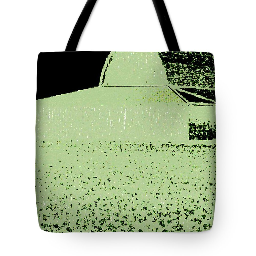 Abstract Tote Bag featuring the digital art Barn Abstract by Will Borden