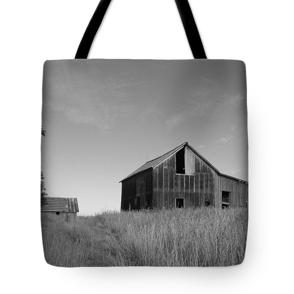 Landscape Tote Bag featuring the photograph Barn And Windmill II by Dylan Punke