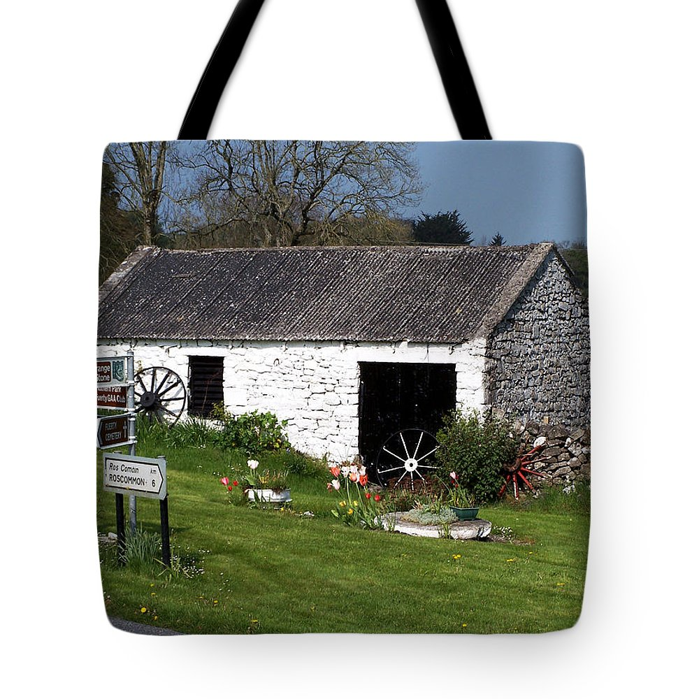 Ireland Tote Bag featuring the photograph Barn At Fuerty Church Roscommon Ireland by Teresa Mucha