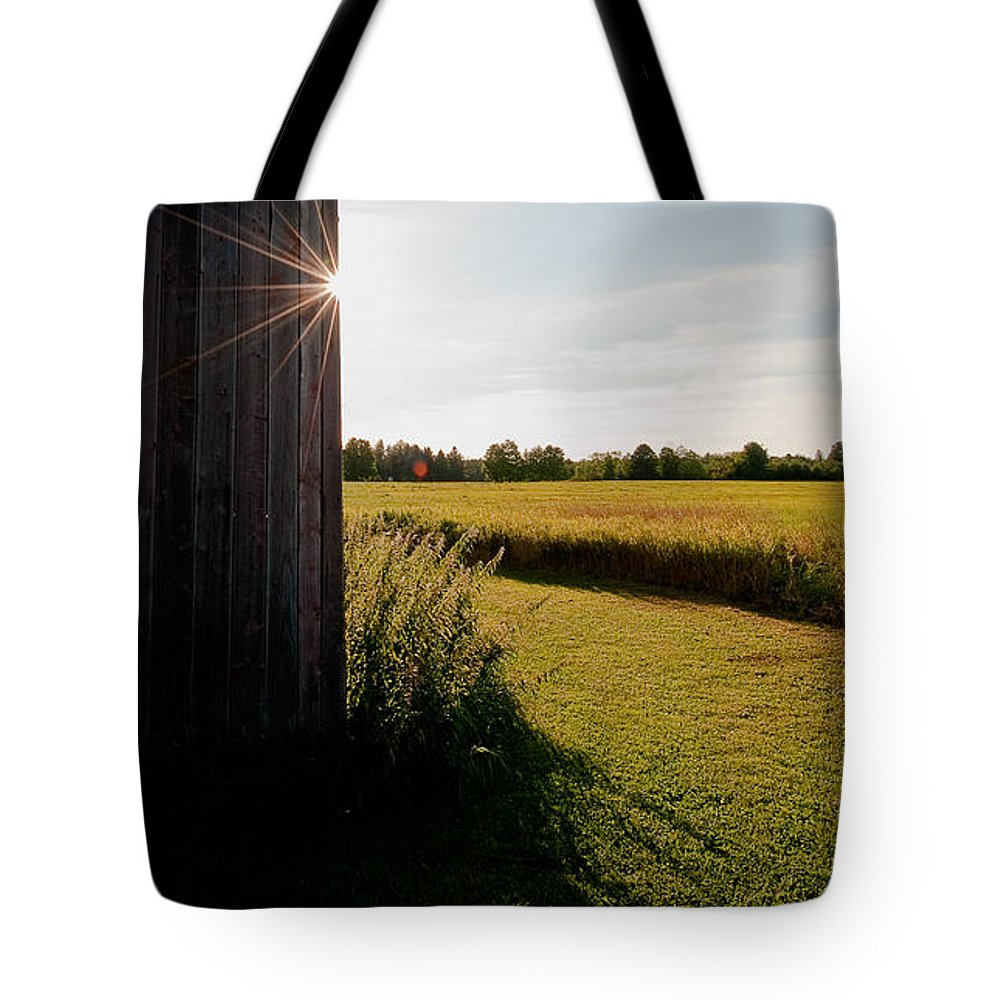 Barn Tote Bag featuring the photograph Barn Highlight by Steven Dunn