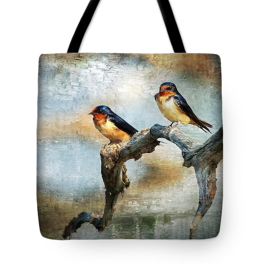 Field Tote Bag featuring the photograph Barn Swallows Oil by Scott Fracasso