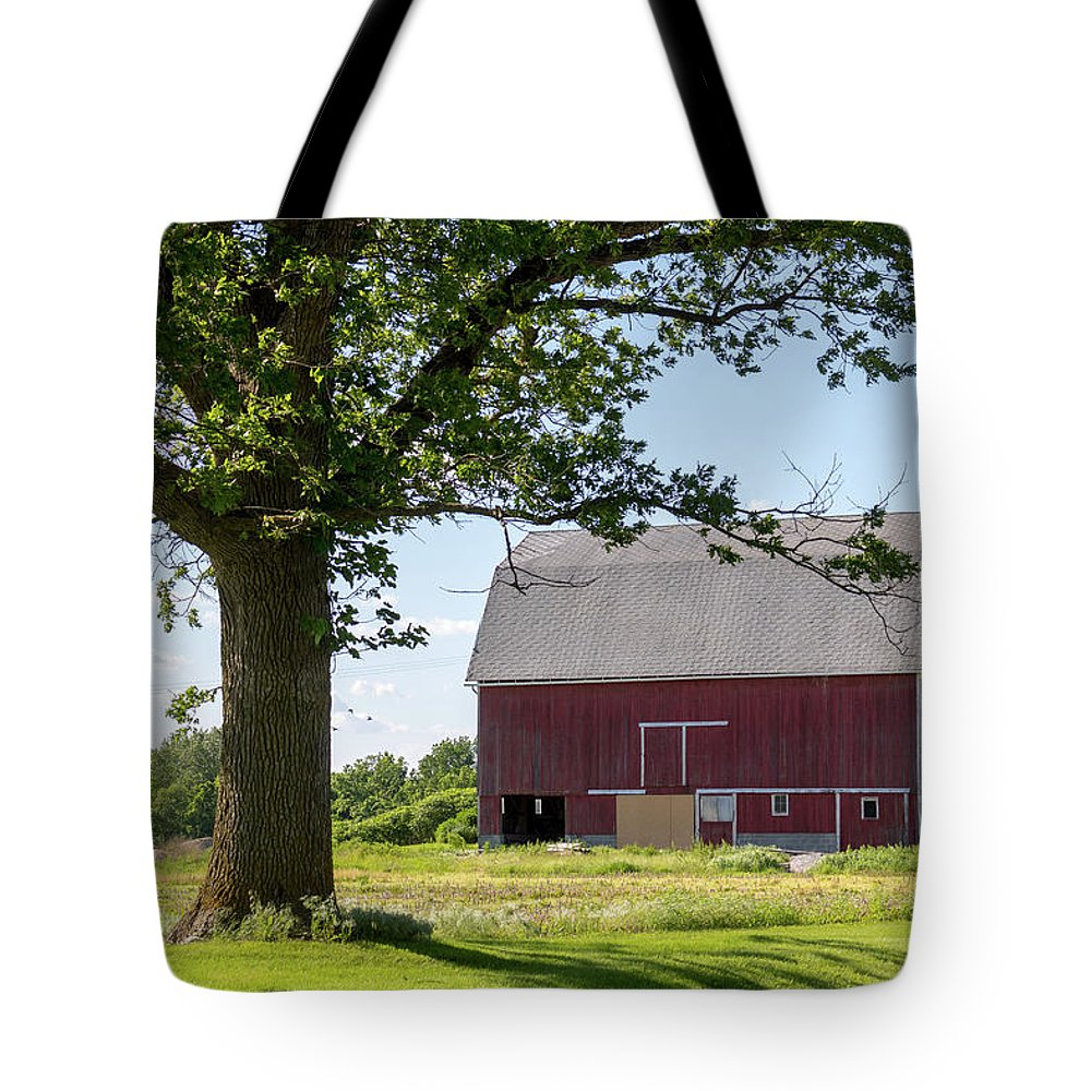 Barn Tote Bag featuring the photograph Barn.61 by Renee Gaudet