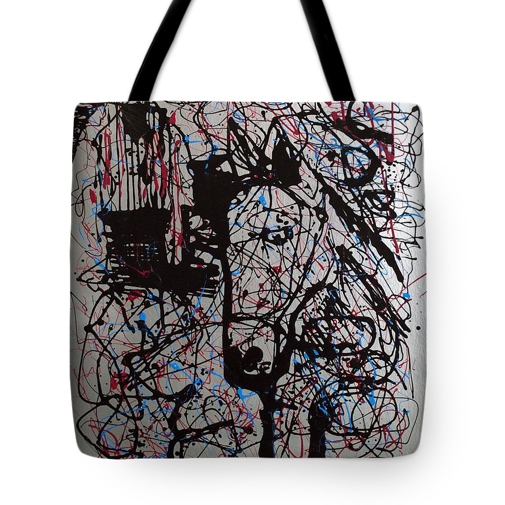 Impressionist Painting Tote Bag featuring the painting Barnyard Horse by J R Seymour