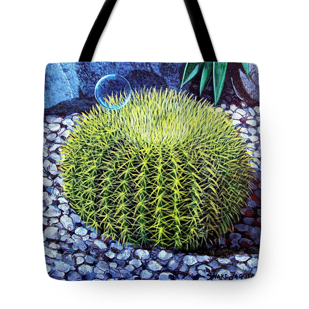 Nature Tote Bag featuring the painting Barrel Bubble by Snake Jagger