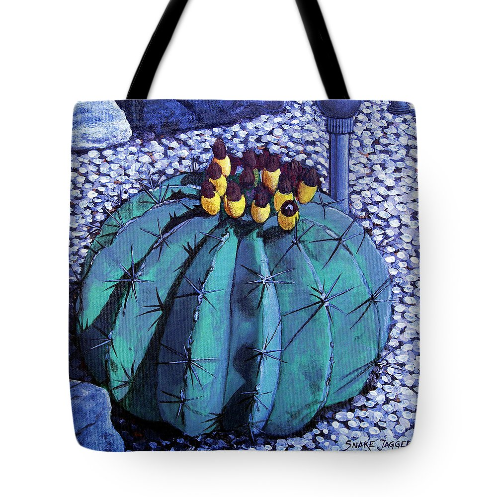 Nature Tote Bag featuring the painting Barrel Buds by Snake Jagger
