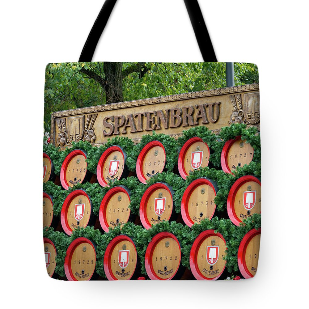 Beer Tote Bag featuring the photograph Barrels by Bernard Barcos