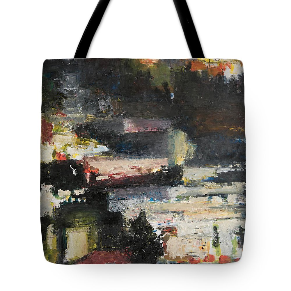 Barrio Tote Bag featuring the painting Barrio by Craig Newland