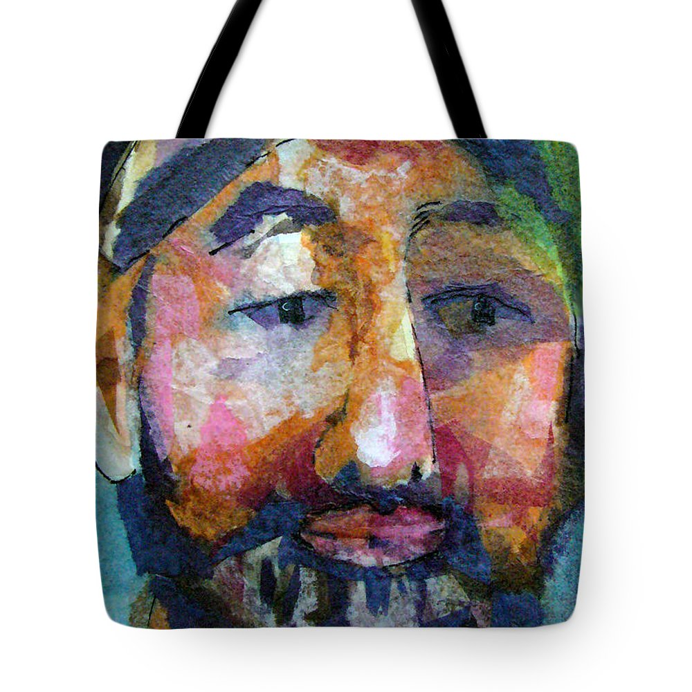 Beard Tote Bag featuring the painting Barry Hornblower by Arline Wagner