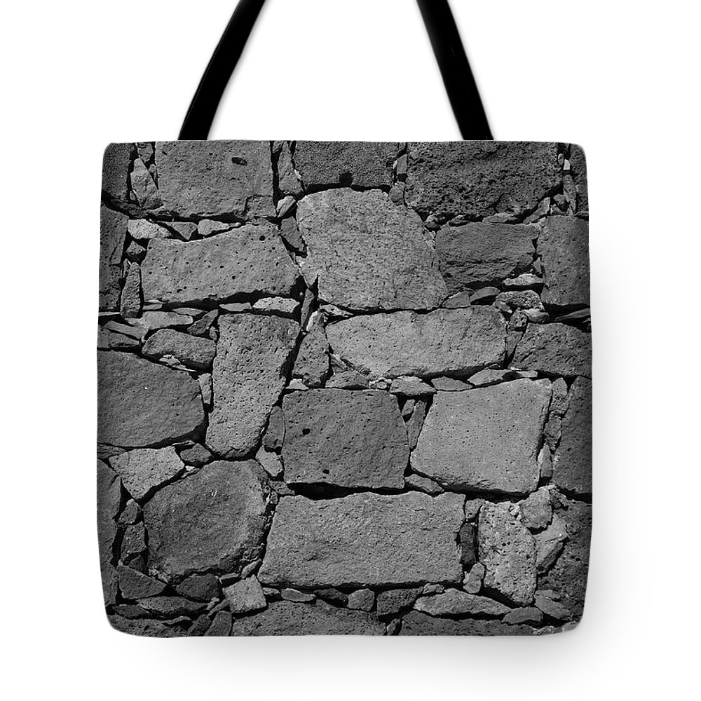 Wall Tote Bag featuring the photograph Basalt Wall by Gaspar Avila
