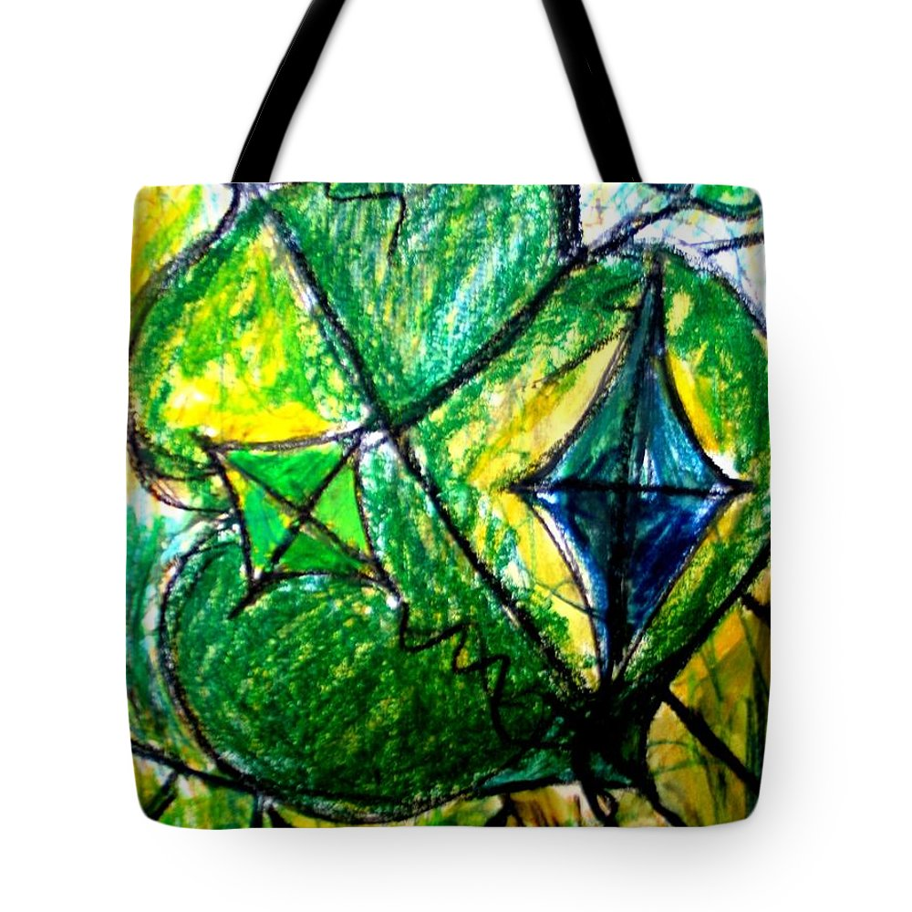 Painting Tote Bag featuring the painting Basant by Fareeha Khawaja