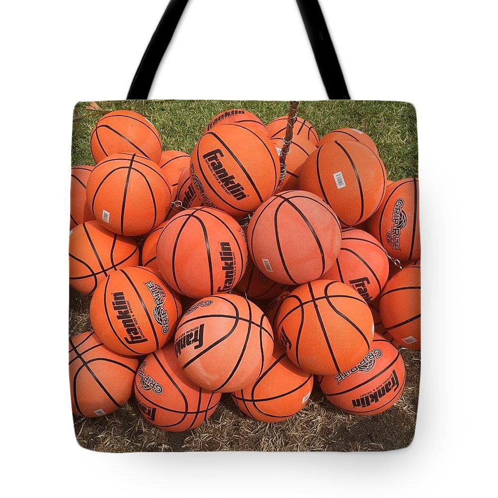 Basketball Tote Bag featuring the photograph Basketbal Anyone by Cordelia Ford