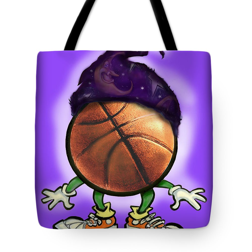 Basketball Tote Bag featuring the greeting card Basketball Wizard by Kevin Middleton