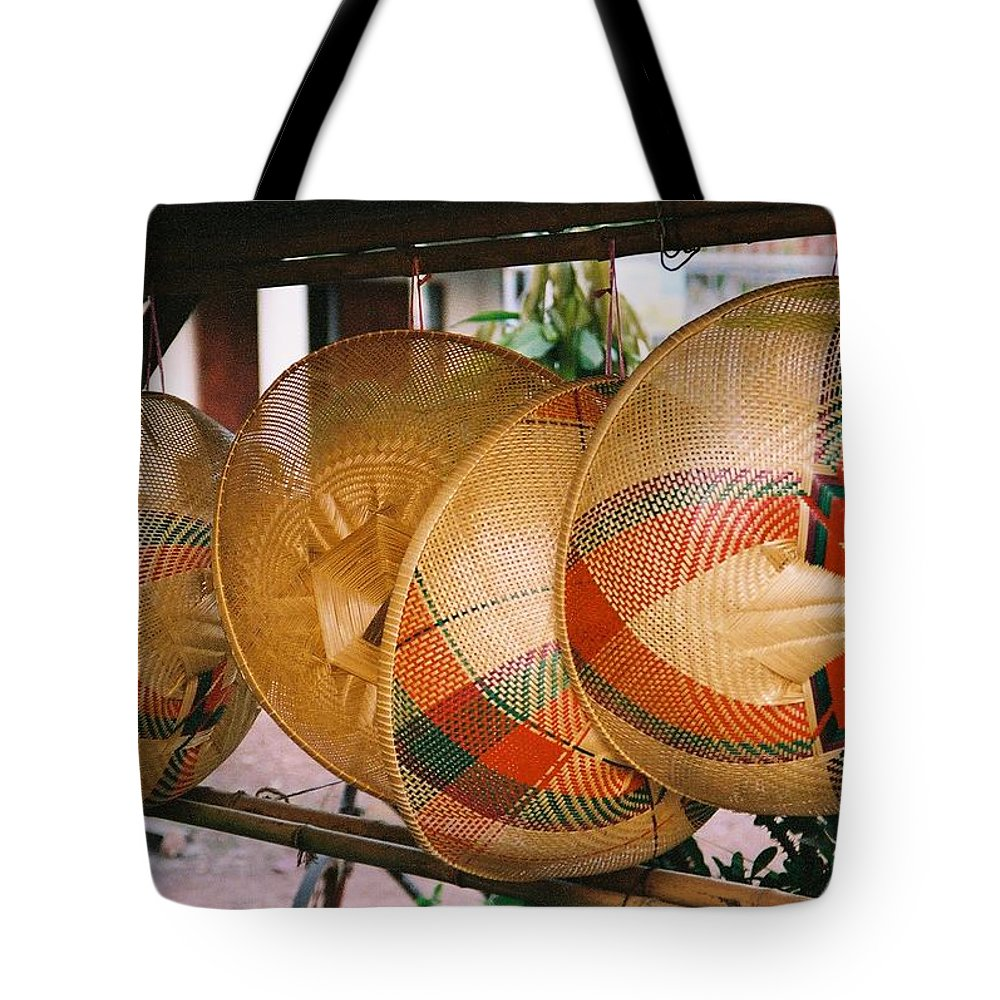 Baskets Tote Bag featuring the photograph Baskets by Mary Rogers
