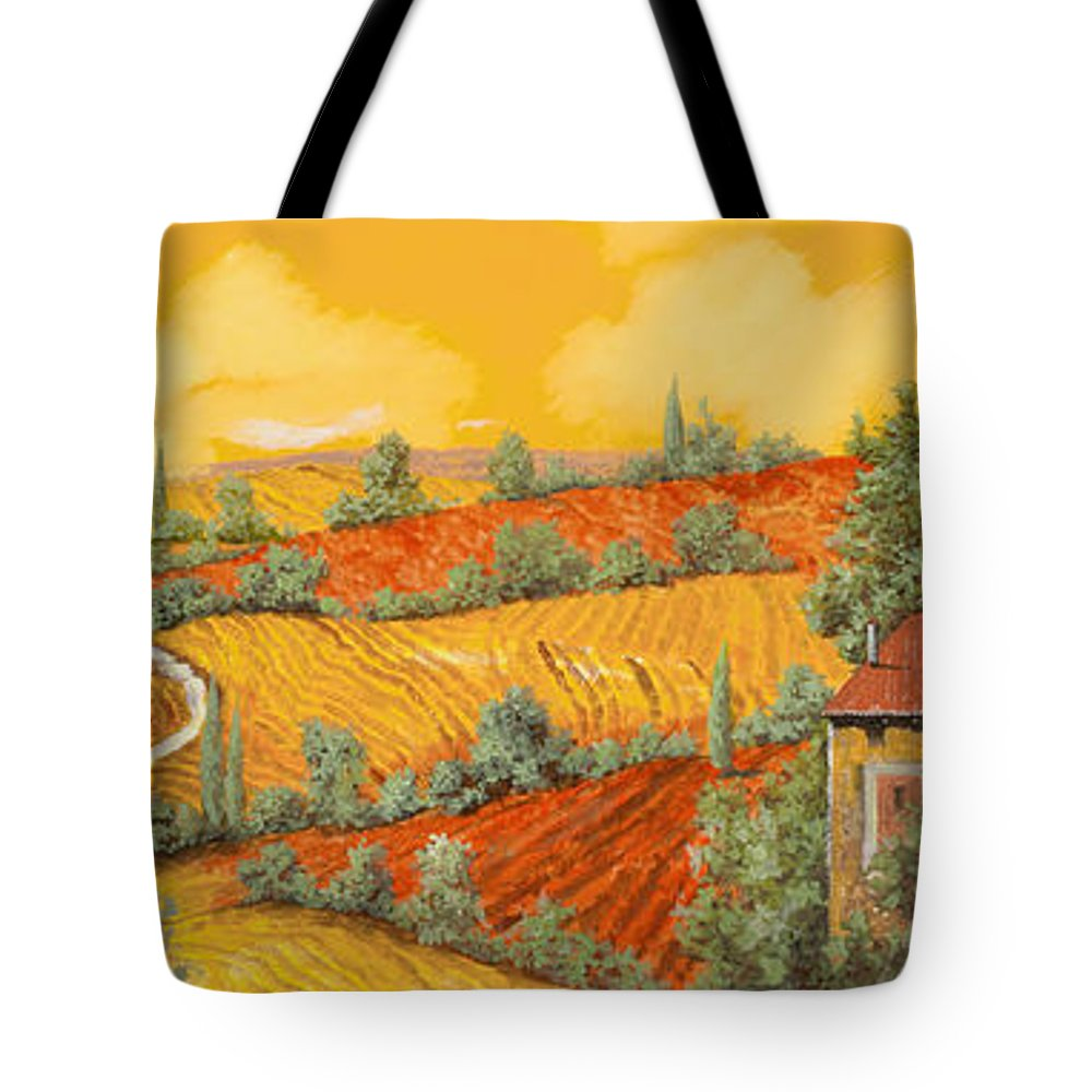 Tuscany Tote Bag featuring the painting Bassa Toscana by Guido Borelli